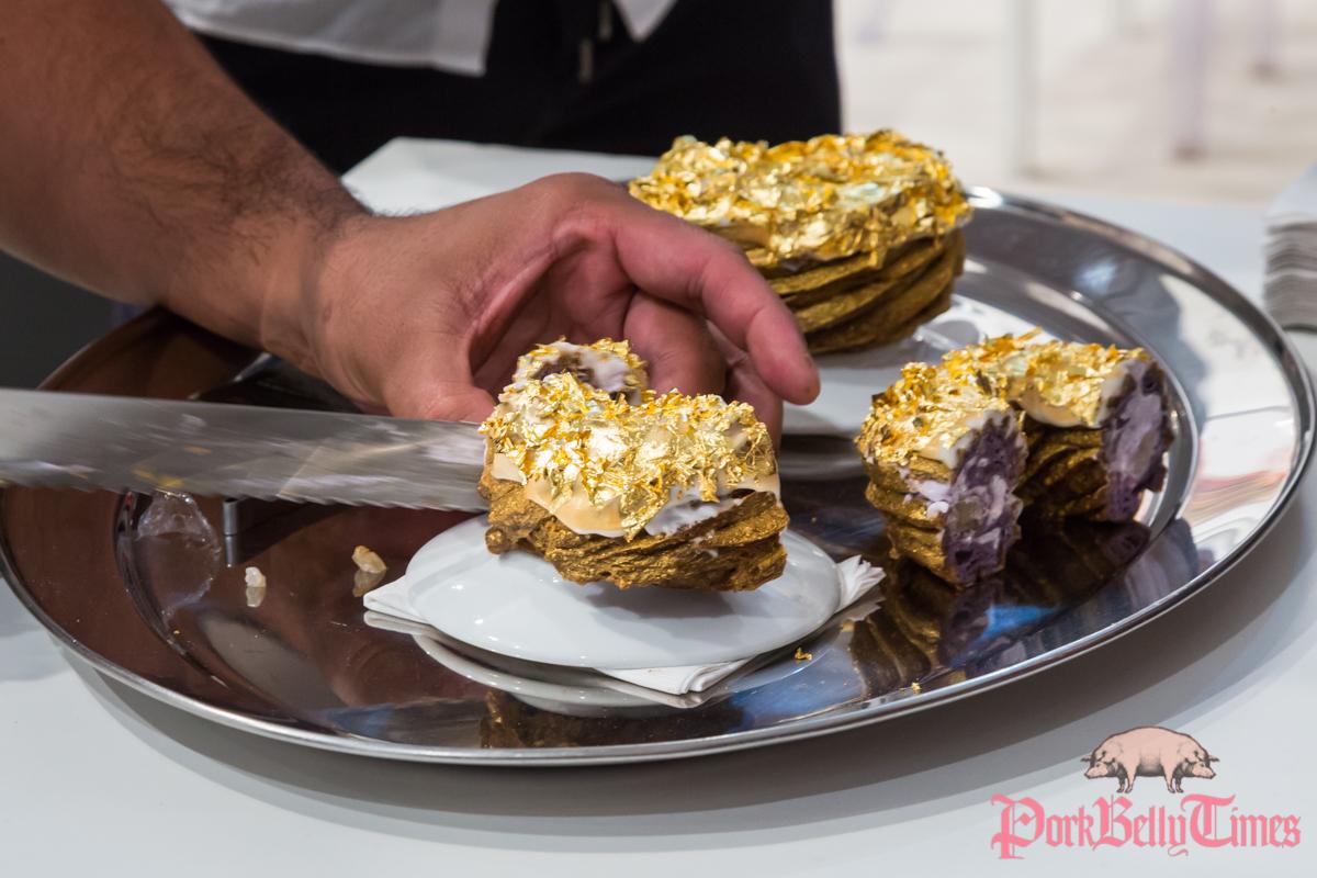 Gold Doughnut by Bjorn DelaCruz at Rudolph Budja Gallery